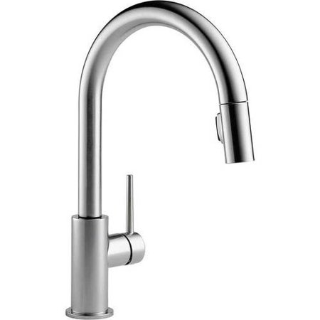 Delta Trinsic Single Handle Pull-Down Kitchen Faucet, Arctic Stainless