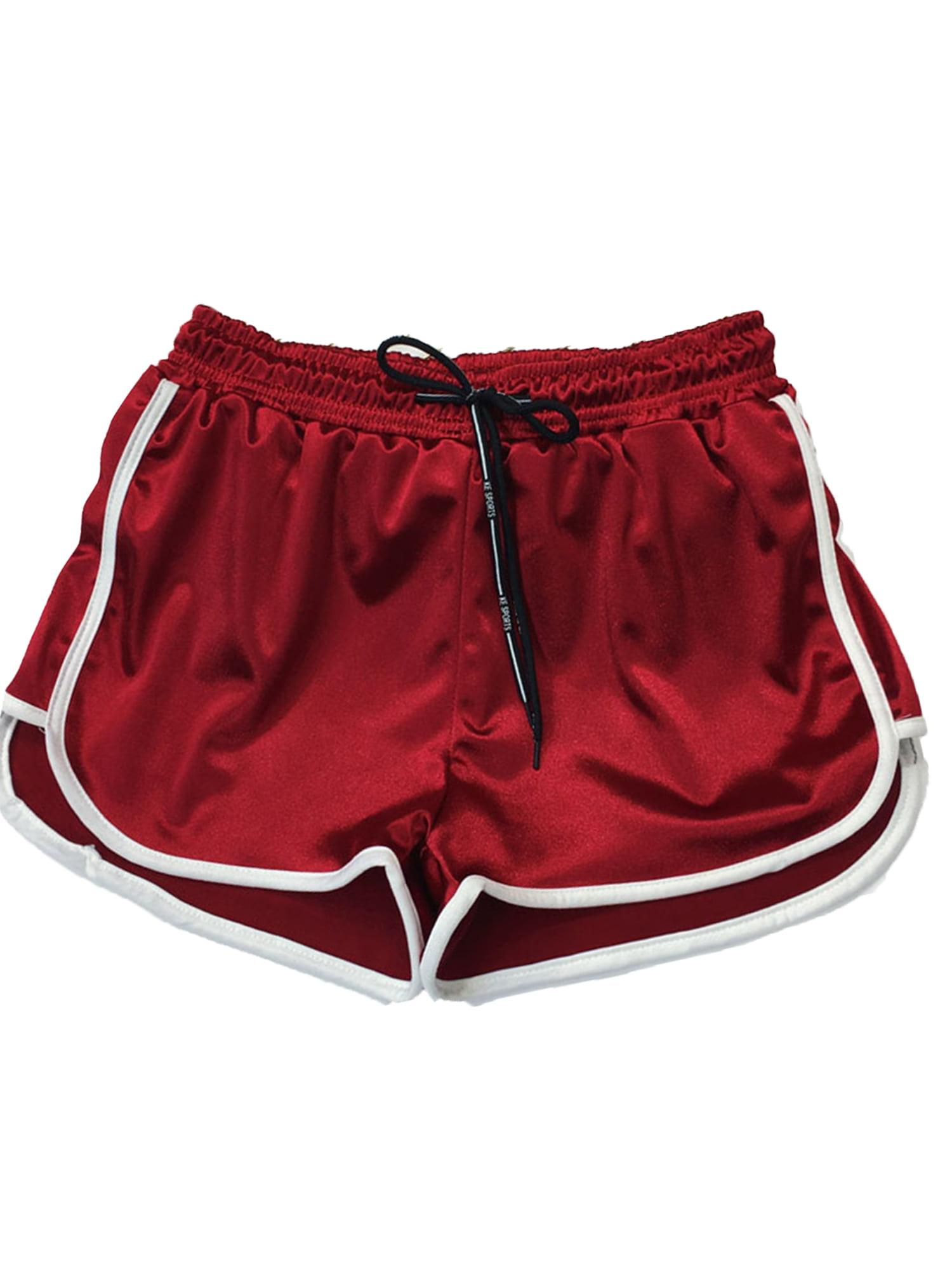 Women/'s Lady Summer Causal Gym Yoga Running Shorts Beach Sports Plus Size Pants