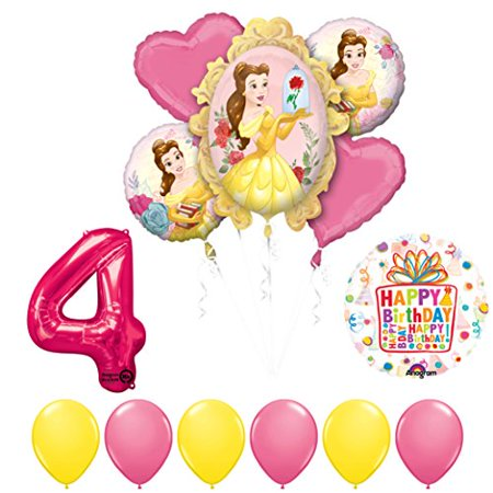 Beauty and The Beast 4th Birthday Party Balloon supplies decorations - Beauty And The Beast Birthday Party Decorations