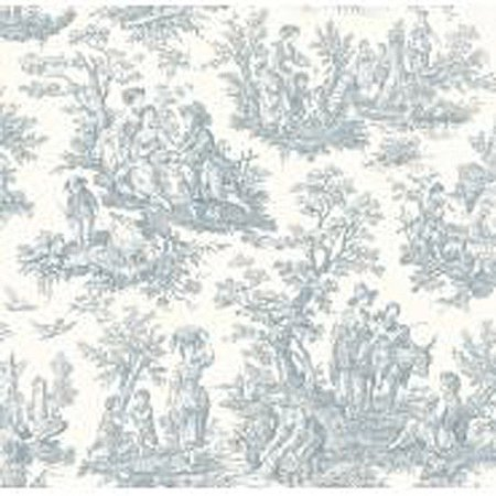 Waverly Classics Country Life Wallpaper, Pure White/Delft Blue