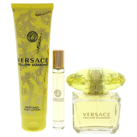 Versace Yellow Diamond Perfume Gift Set for Women, 3 Pieces