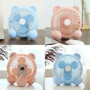 New Cute Small Mini Table Fan Personal Portable Fan Standing Fan for Office Home