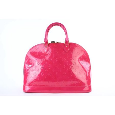 Louis Vouitton Louis Vuitton Rose Pop Monogram Vernis Alma Gm 3lt922 Pink Satchel ()
