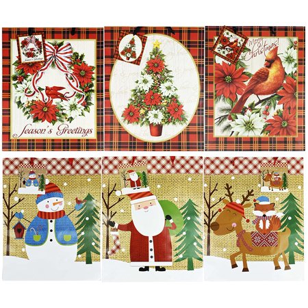 Printed Gift Bags ((Ship From USA) Extra Large Christmas/Holiday Gift Bags 18