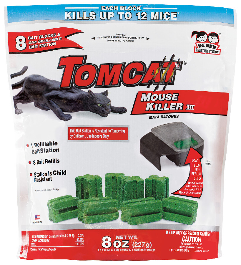 Tomcat Mouse Killer III Tier 3 Refillable Mouse Bait Station (Box)
