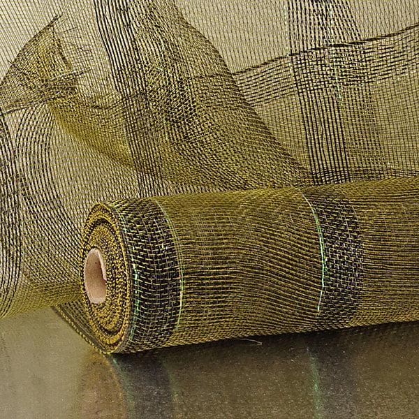 "21"" X 10 Yards Black Wide Stripe Laser Deco Mesh by Paper Mart"