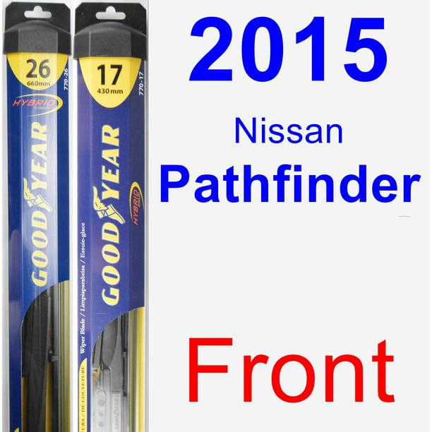 2015 Nissan Pathfinder Wiper Blade Set Kit Front 2 Blades