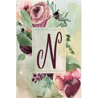 """Wine Green Floral 6""""x9"""" Planner Alphabet Series - Letter N: N: Wine Green Floral 2020 Weekly Planner 6""""x9"""" (Paperback)"""