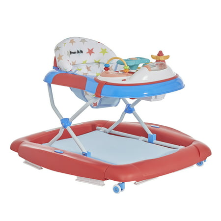 Dream On Me 2 in 1 Crossover Musical Walker and Rocker in Red White and Blue (Yellow Baby Walker)