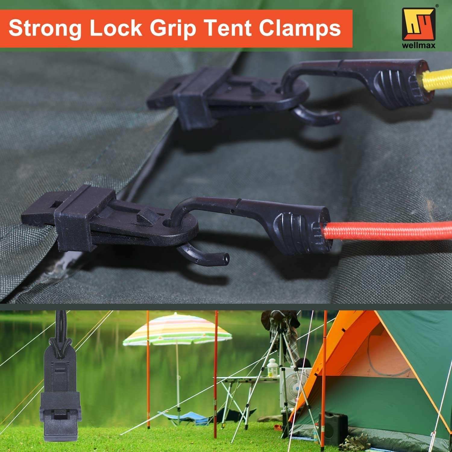 Canopy Multi-Purpose Awning Clamps for Holding Up Tarp Dioche 6pcs Tarp Clips Boat Cover and Pool Cover Outdoor Camping Black Sun Shade Car Cover