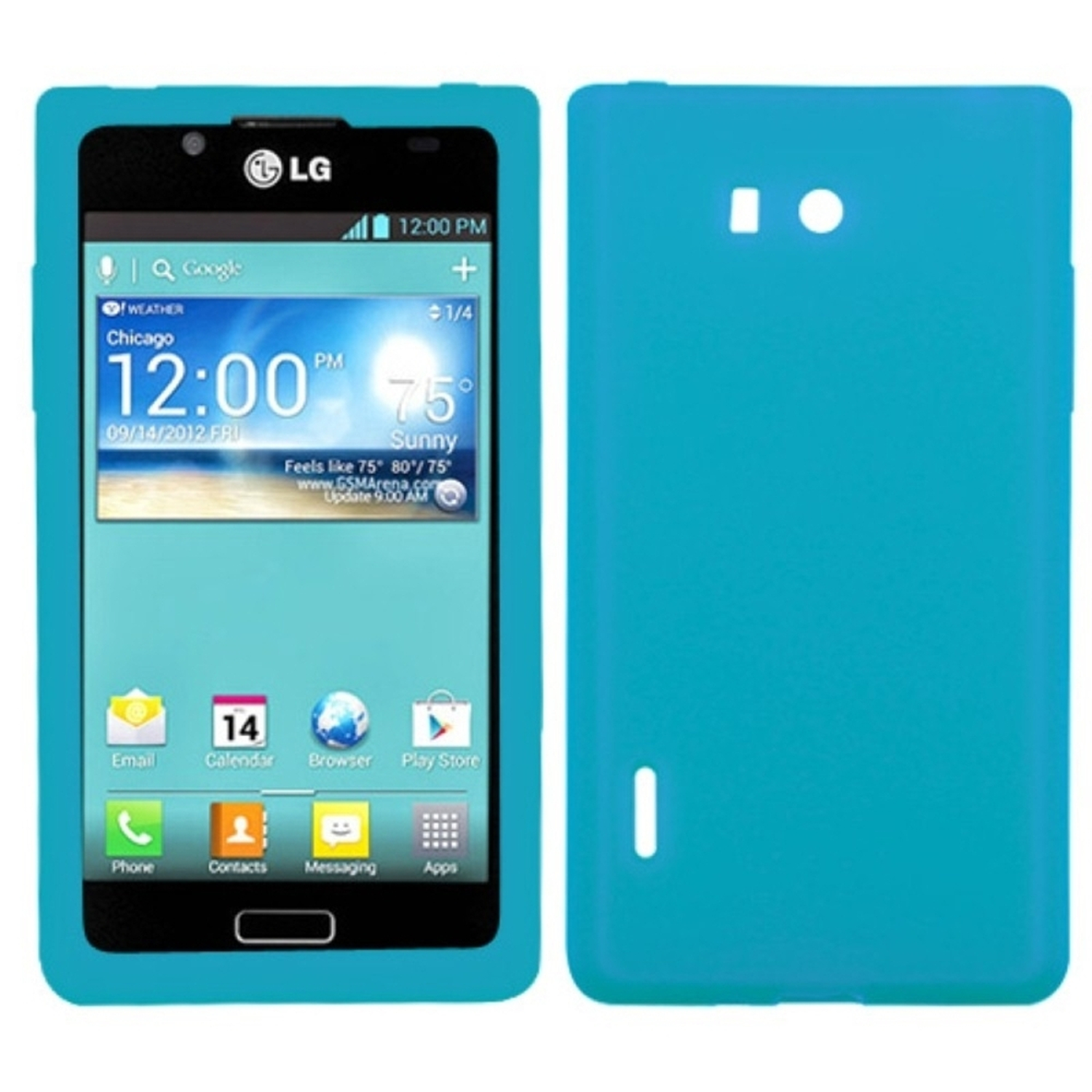Insten Solid Skin Case (Tropical Teal Green) for LG: US730/Splendor /Venice /L86c/Optimus Snowtime