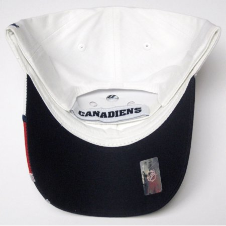 - Montreal Canadiens NHL Reebok White Shark Tooth Wave Hat Cap Adult Men's Adjustable