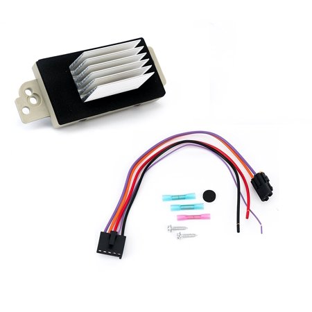 Blower Motor Resistor Complete Kit With Harness - Replaces# 15 81773, 89018778, 89019351, 1581773, 15-81773 - Chevy Silverado, Tahoe, Suburban, GMC Sierra, Yukon & more - AC, Heater Control Module