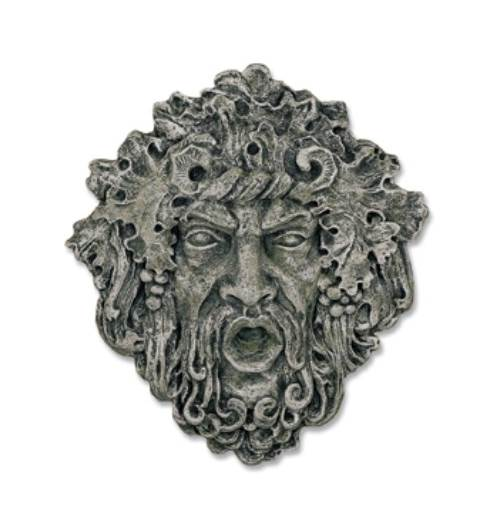 Bacchus Wine God Plaque in Moss Finish