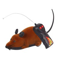 Rotated Rat Toy for Cats, Electronic Remote Control Rat, Simulation Mouse Toy for Cat Dog Kid,Brown