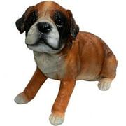 "Michael Carr 11"" Punch Boxer Puppy Statue, Medium"