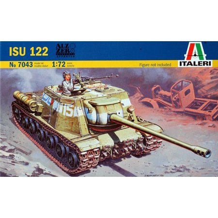 Italeri 1:72 Soviet ISU-122 Self Propelled Gun Plastic Model Kit #7043