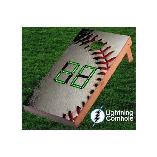 Lightning Cornhole Electronic Scoring Baseball Cornhole Board by