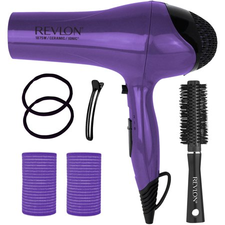 c8f4bc1e23584d Revlon IONIC Ceramic Hair Dryer Blowout Gift Set, Purple, 7 pc ...