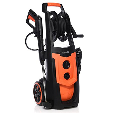 Ivation Electric Pressure Washer 2030 PSI 1.76 GPM with Power Hose, 5 Nozzle Gun and Turbo Wand, All Parts Included, W/ Removable Soap Dispenser