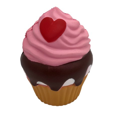 Cute Simulate Loving Heart Cupcake Squishy Toy Home Decor Pink - image 5 of 5