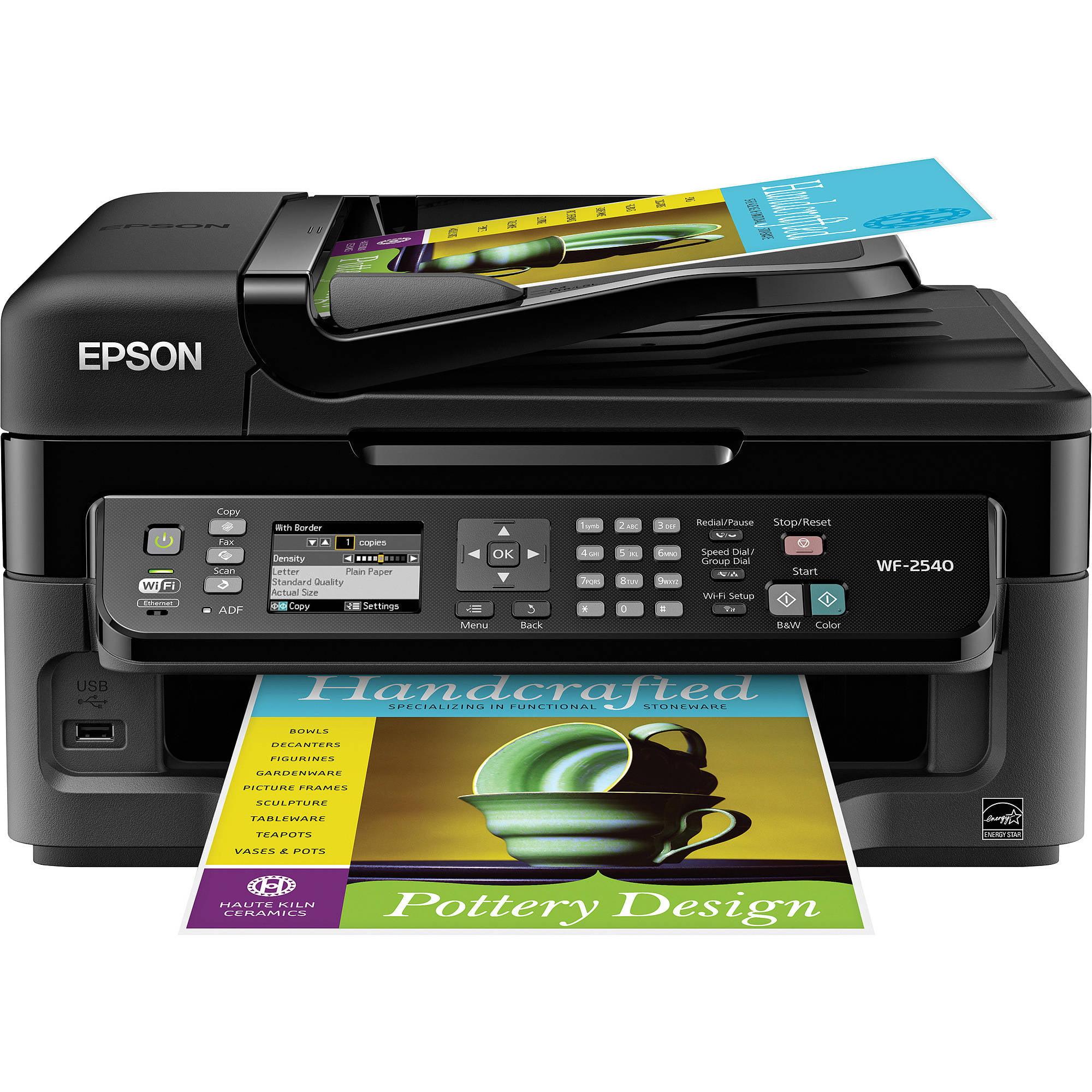 Epson WorkForce WF-2540 Inkjet Multifunction Printer/Copier/Scanner/Fax Machine