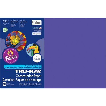 Tru-Ray, PAC103051, Heavyweight Construction Paper, 1 Pack, Purple (Construction Paper Roll)