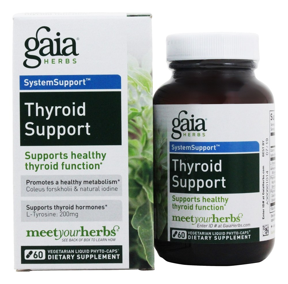 Gaia Herbs Gaia SystemSupport Thyroid Support, 60 ea