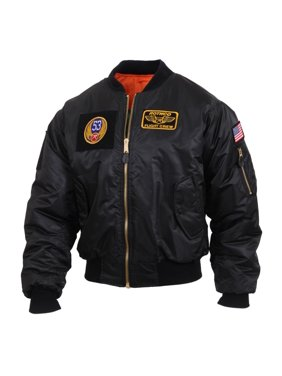 Rothco MA-1 Flight Jacket with 5 Removable Morale Patches