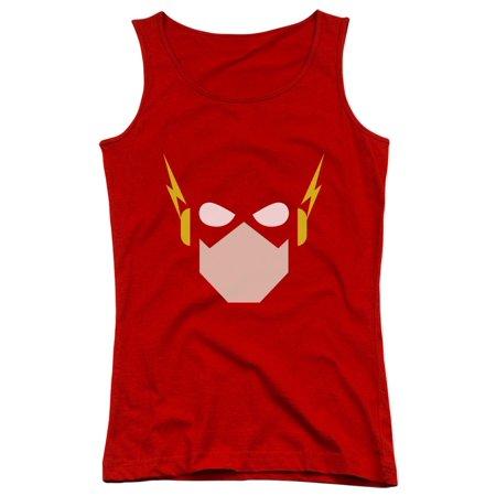Kids Rex Com (Justice League Of America DC Com The Flash Chiseled Head Juniors Tank Top)