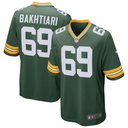 David Bakhtiari Green Bay Packers Nike Game Jersey - Green