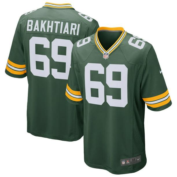 David Bakhtiari Green Bay Packers Nike Game Player Jersey - Green