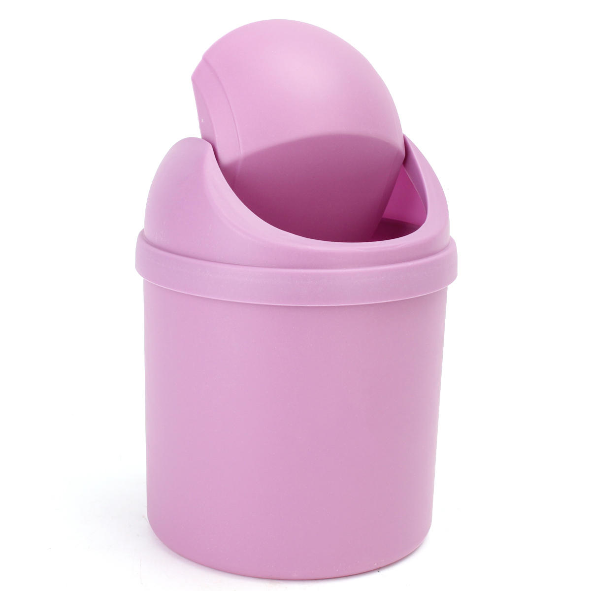 1.5 L // 0.40 Gal Come with Trash Bag Pink Countertop Brushed Stainless Steel Swing Lid Table Desk Car Mini Trash Can Trash Bin Set 5 Color Options