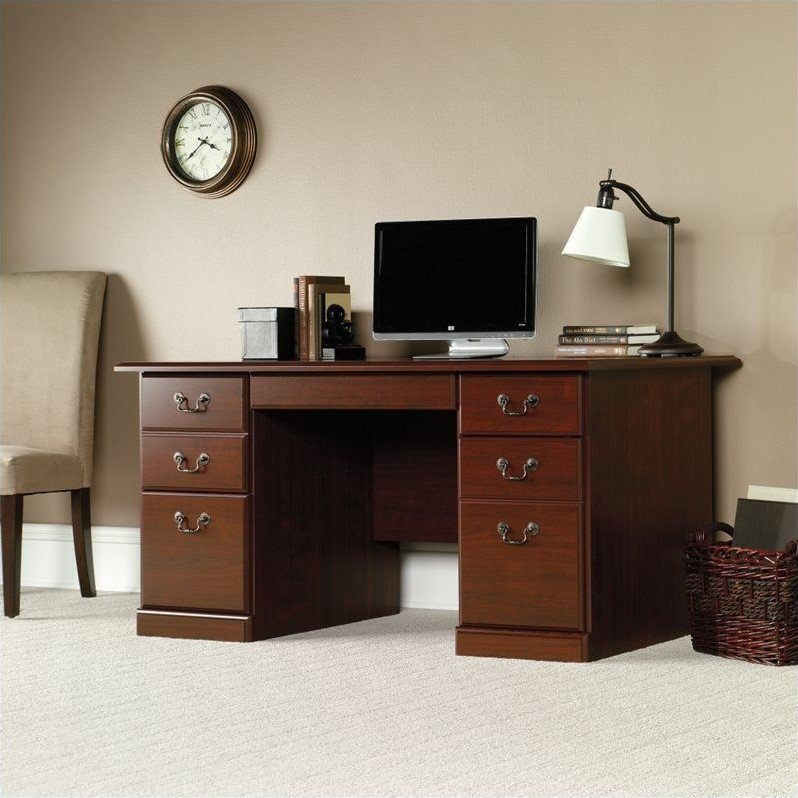 Sauder Heritage Hill Computer Desk, Classic Cherry Finish
