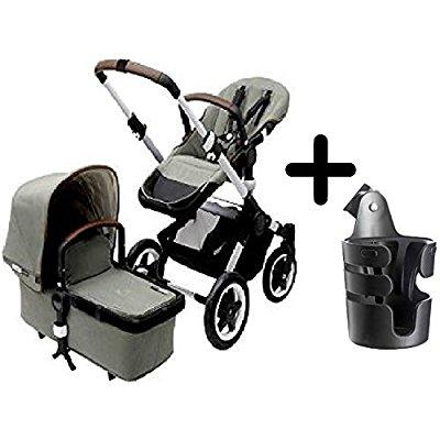 Bugaboo buffalo escape complete stroller 2015, balsam green + bugaboo cup holder