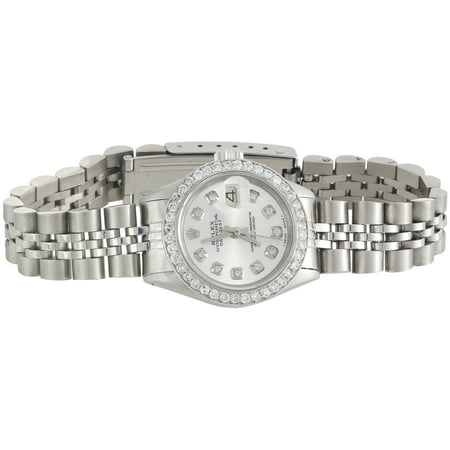 (Ladies Rolex 26mm DateJust Diamond Watch Jubilee Band Shiny Silver Dial 1 CT.)