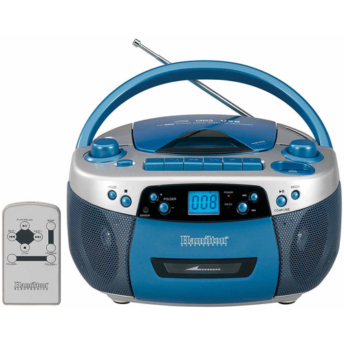 AM/FM MP3 Cassette CD Player with USB Remote