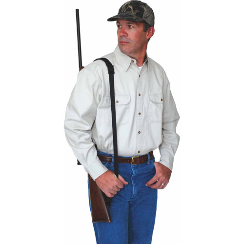 Slide-and-Lock Web Sling with Swivels, Black by Allen Company