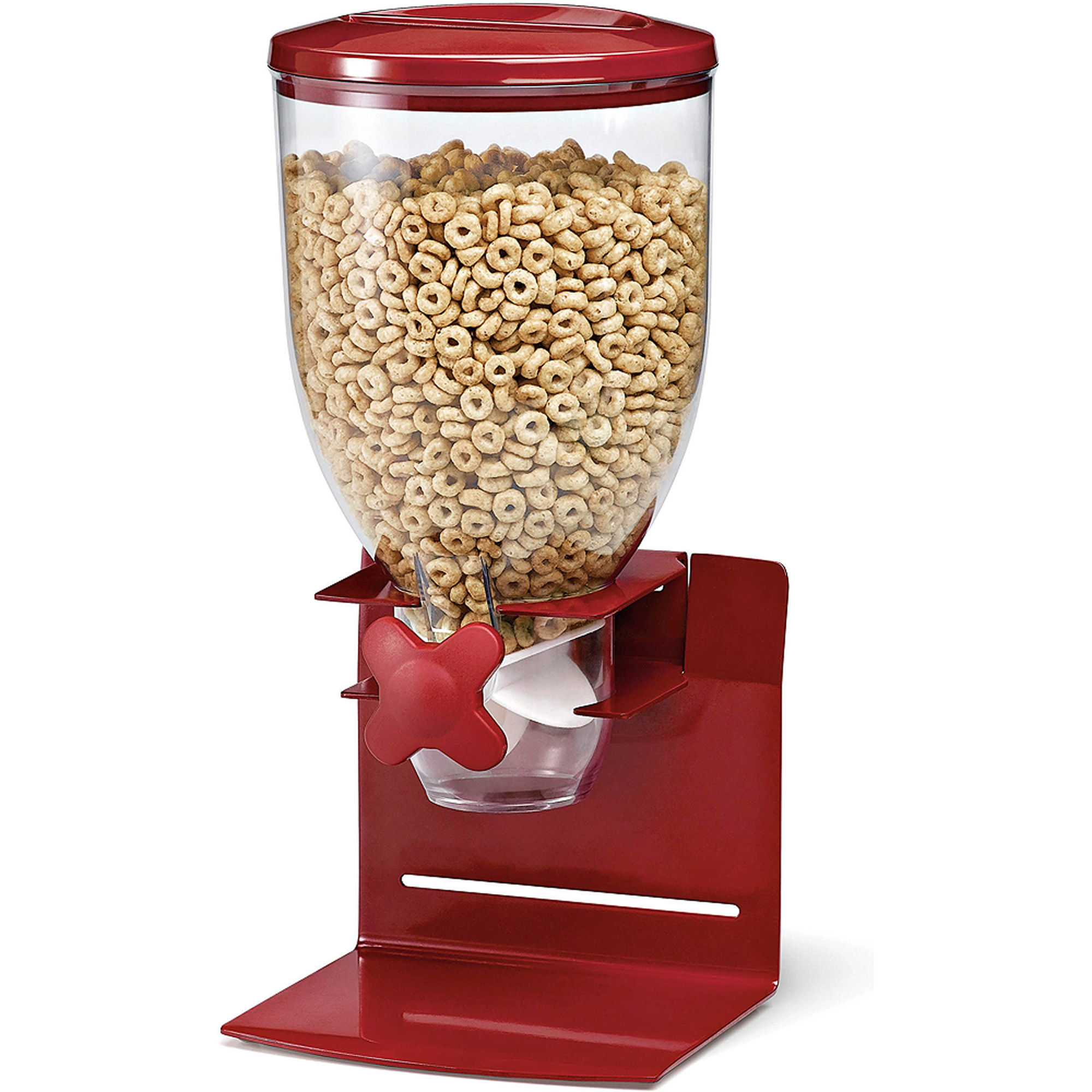 Zevro by Honey Can Do Pro Model 17.5 oz Dry Food Dispenser, Red