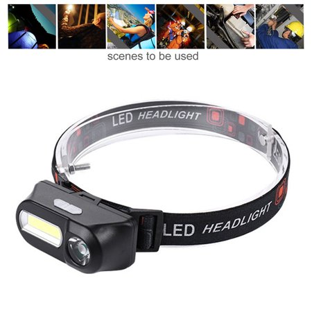 Outdoor Camping Portable Mini USB Charging COB LED Headlight Fishing Headlights - image 2 of 10