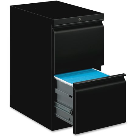 Basyx 2 Drawers Vertical Lockable Filing Cabinet, Black