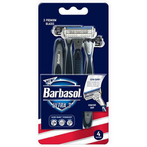 Barbasol Ultra 3 Premium Disposable Razor, Count 4