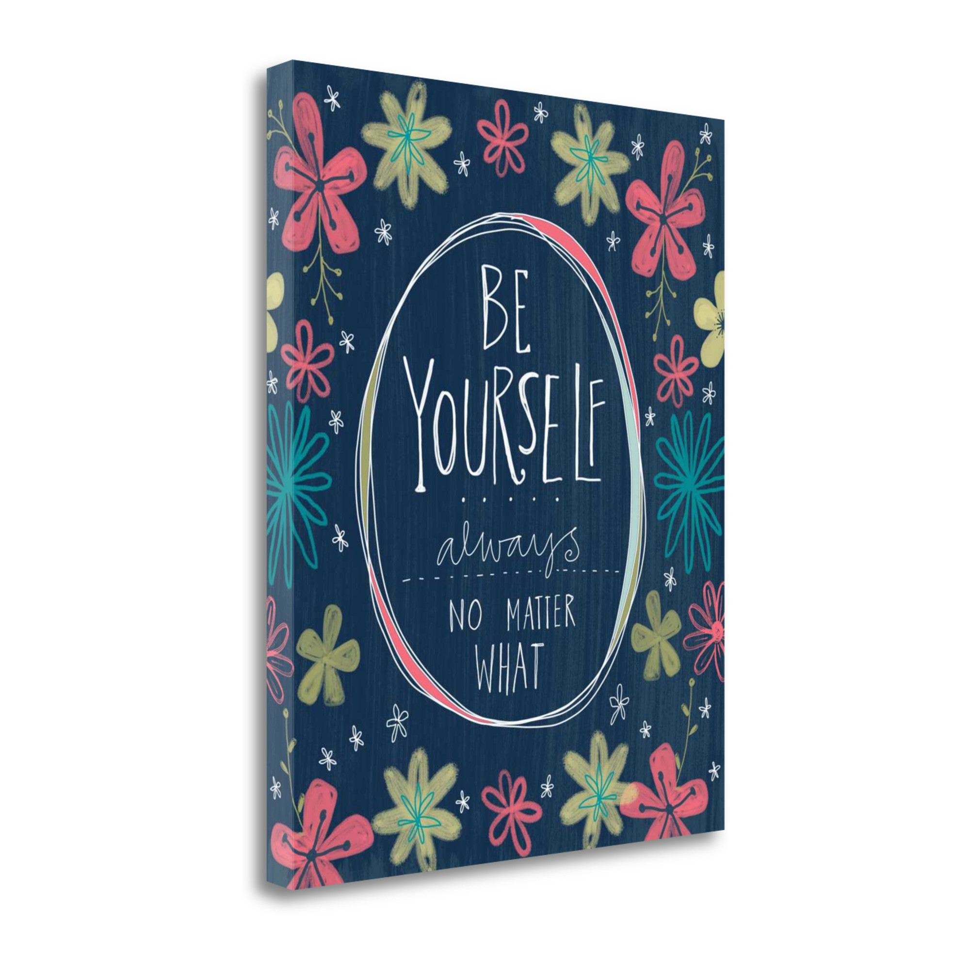 Tangletown Fine Art Be Yourself By Katie Doucette Giclee Print Canvas Wall Art
