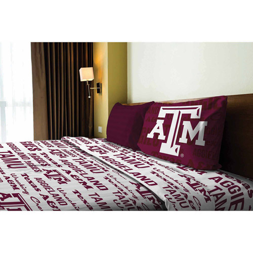NCAA Anthem Bedding Sheet Set, Texas A&M