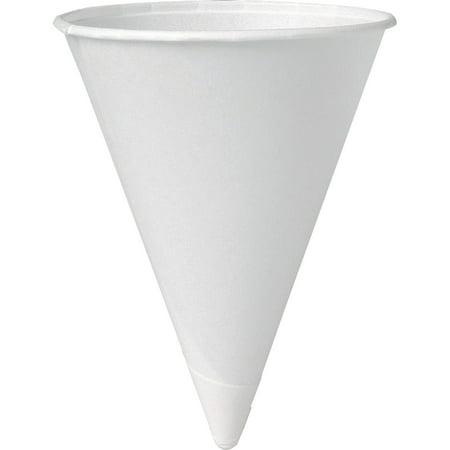Solo, SCC4R2050, Eco-Forward 4 oz Paper Cone Water Cups, 5000 / Carton, White, 4 fl oz (Paper Cones)