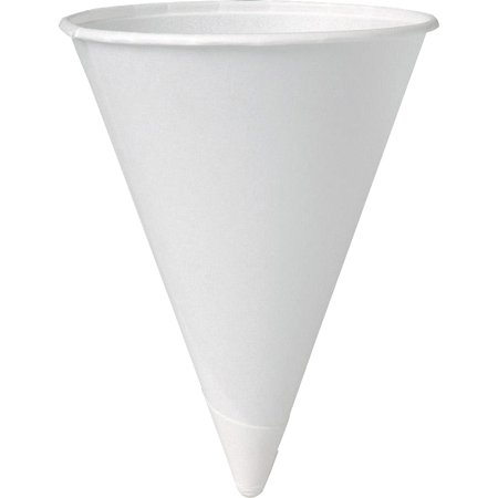 Solo Eco-Forward 4 oz Paper Cone Water Cups - Construction Cone Cups