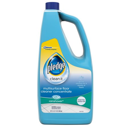 Pledge Multisurface Floor Cleaner Concentrate, Rainshower, 32 fl oz - Multi Purpose Floor Nozzle