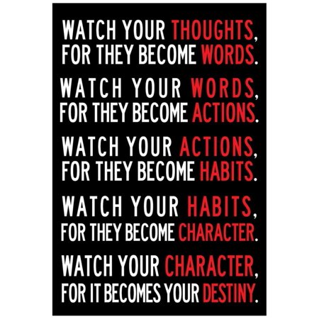 Watch Your Thoughts Motivational Poster - -