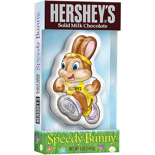 Hershey's Solid Milk Chocolate  Speedy Easter Bunny, 5 oz