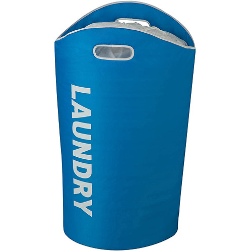 Honey Can Do Open Laundry Hamper with Sturdy Foam Interior, Multicolor